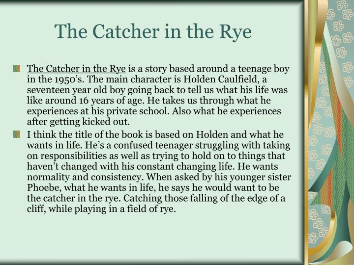 the catcher in the rye the secret goldfish Talk:laughing man (ghost in the shell) the boy in the catcher in the rye uses the word 'phonies' a lot the secret goldfish is mentioned.