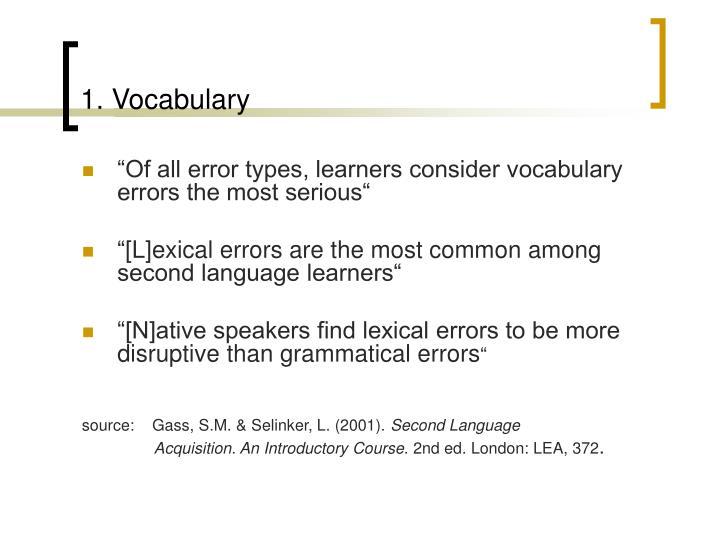 1 vocabulary