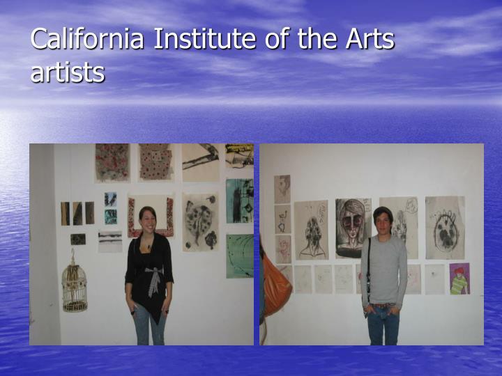 California Institute of the Arts artists