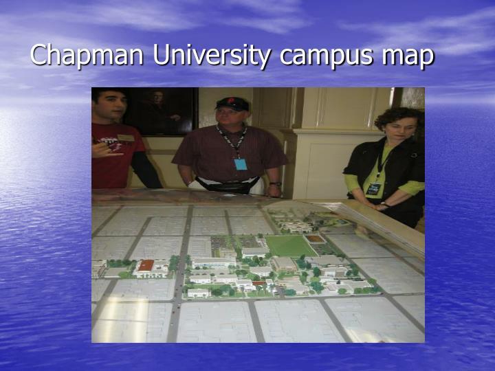 Chapman University campus map