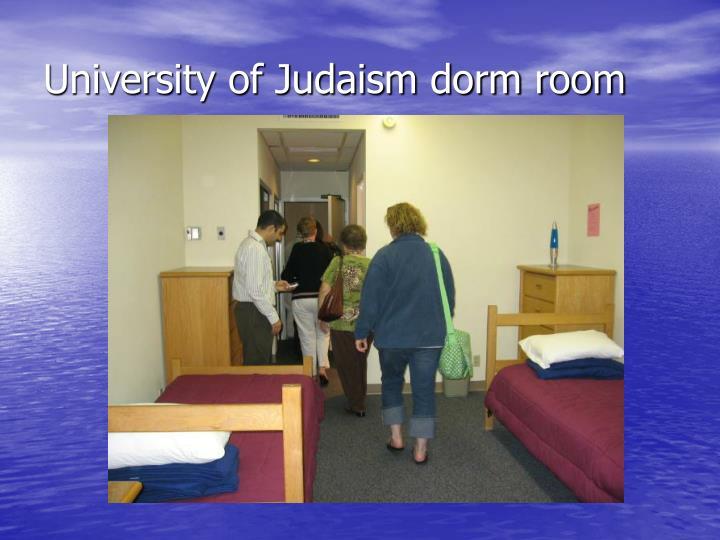 University of Judaism dorm room
