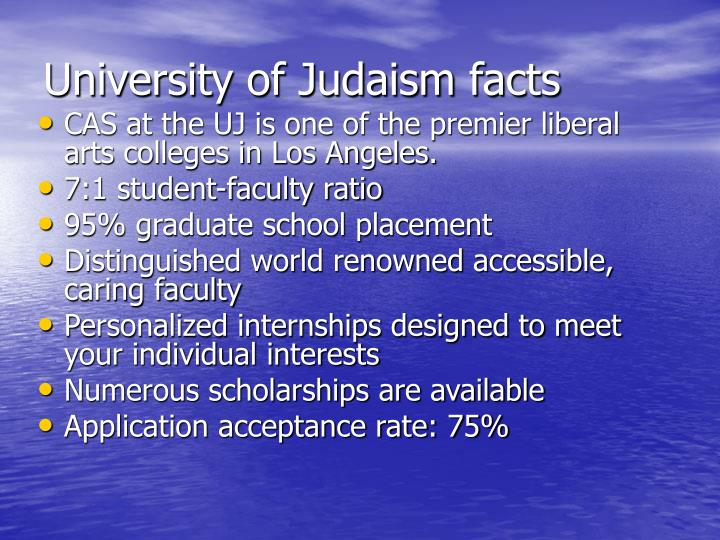 University of Judaism facts