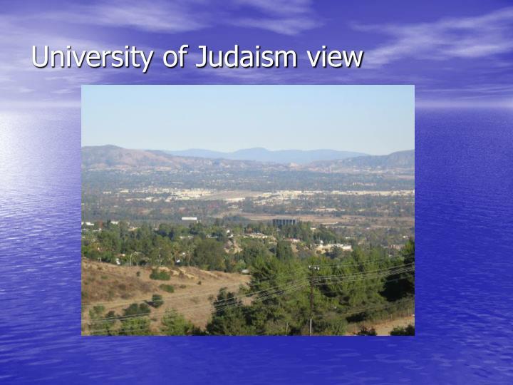 University of Judaism view