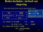 redox herhalen invloed van omgeving2