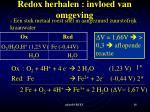 redox herhalen invloed van omgeving3