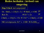 redox herhalen invloed van omgeving7