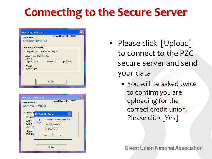 Connecting to the Secure Server