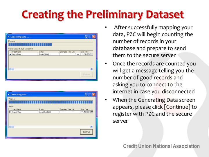 Creating the Preliminary Dataset