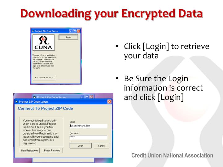 Downloading your Encrypted Data