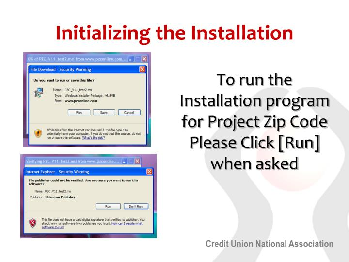 Initializing the Installation