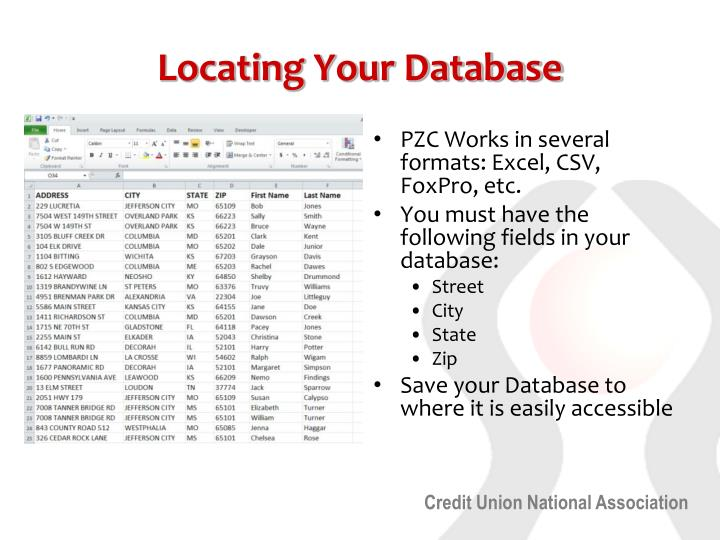 Locating Your Database
