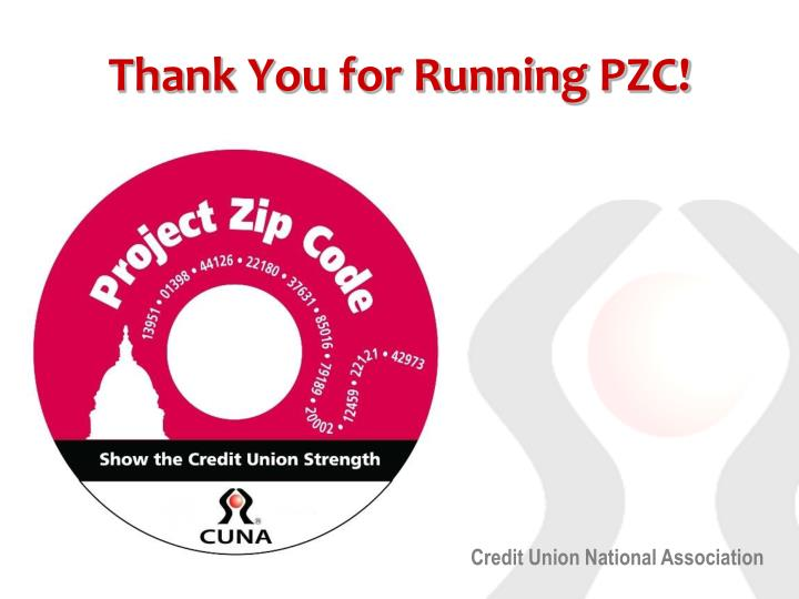 Thank You for Running PZC!