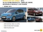 where are we going 2012 va va voom products simpler more desirable renault car range4