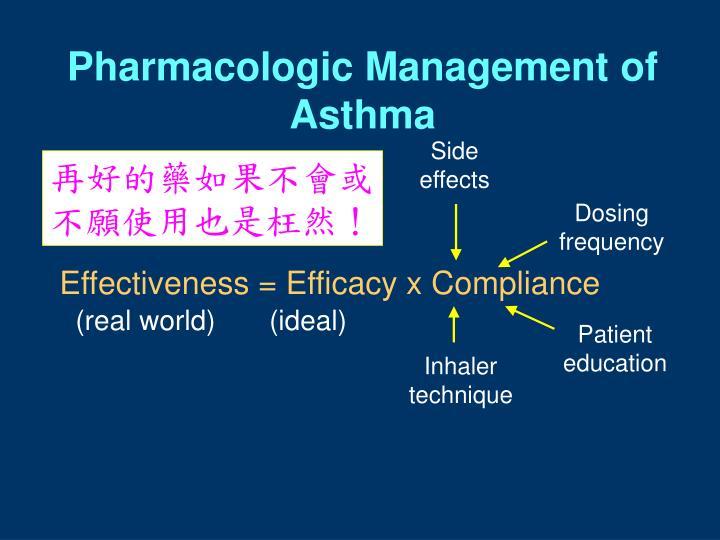 Pharmacologic Management of Asthma