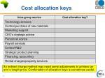cost allocation keys