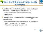 cost contribution arrangements examples