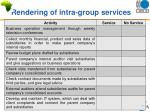 rendering of intra group services8