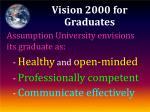vision 2000 for graduates