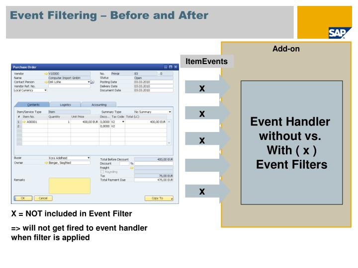 Event Filtering – Before and After
