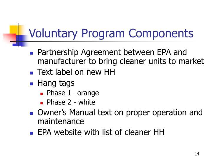 Voluntary Program Components