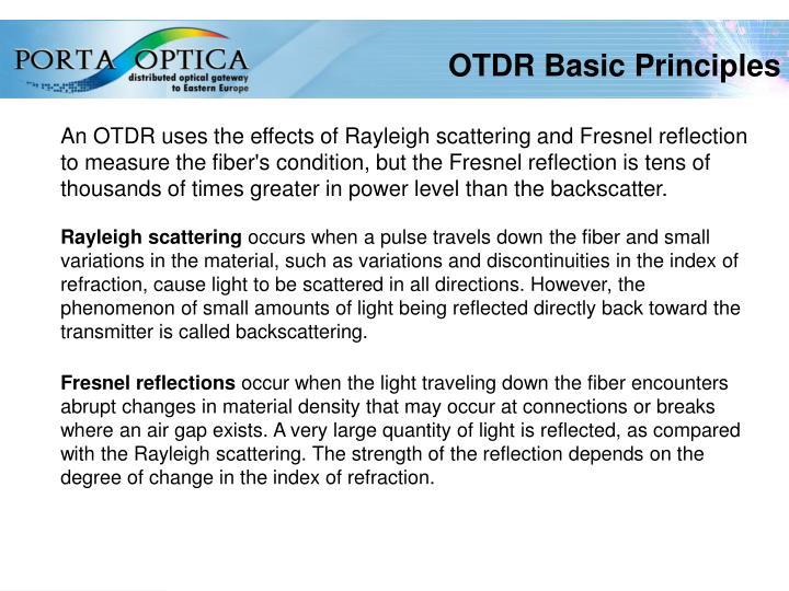 OTDR Basic Principles