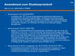 amendment zum studienprotokoll