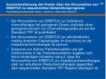 zusammenfassung der poster ber die hinzunahme von erbitux zu sequenziellen behandlungsregimes