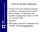 cost of chronic diseases