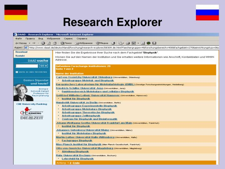 Research Explorer