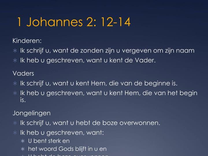 1 johannes 2 12 14