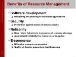 benefits of resource management