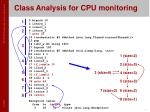 class analysis for cpu monitoring