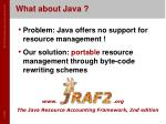 what about java