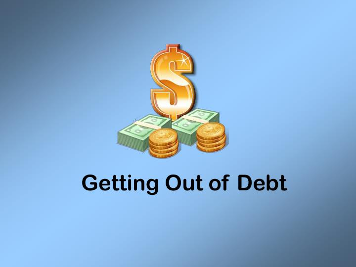 getting out of debt n.