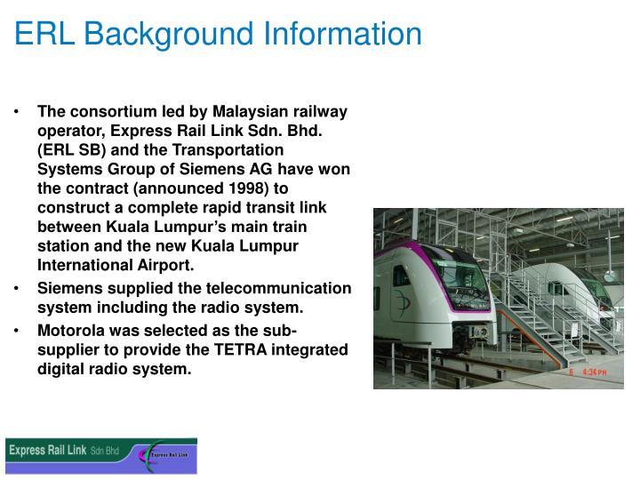 ERL Background Information