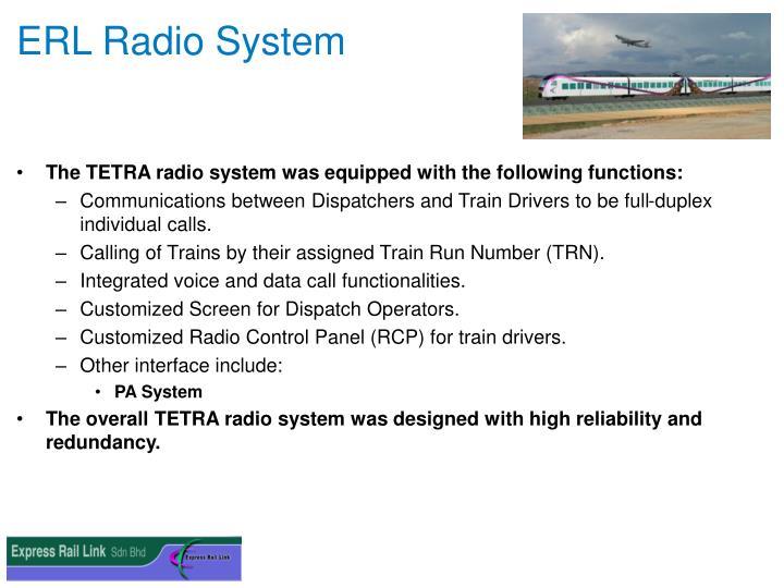 ERL Radio System
