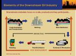 elements of the downstream oil industry