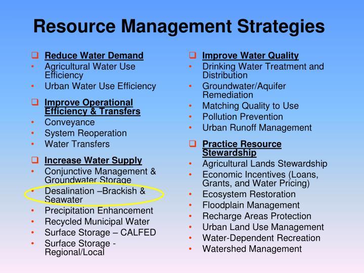 Reduce Water Demand