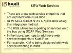 kew web services