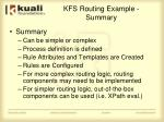 kfs routing example summary
