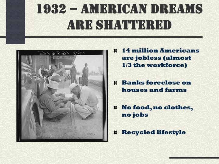 PPT - THE GREAT DEPRESSION OF THE 1930'S PowerPoint ...