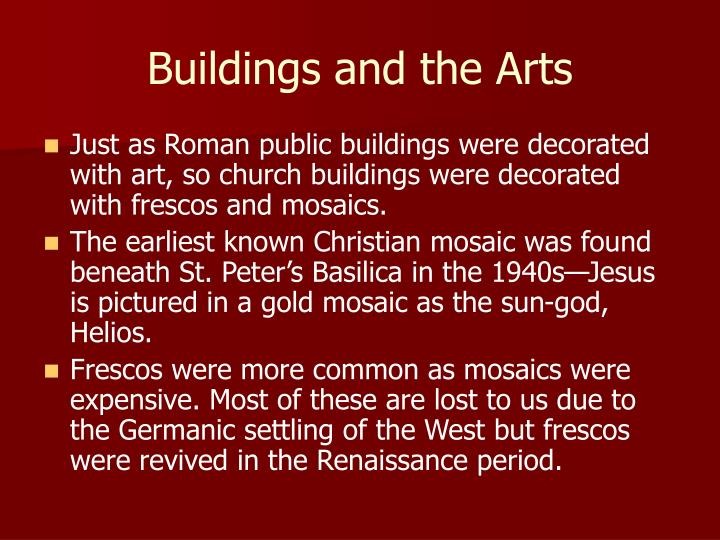 Buildings and the Arts