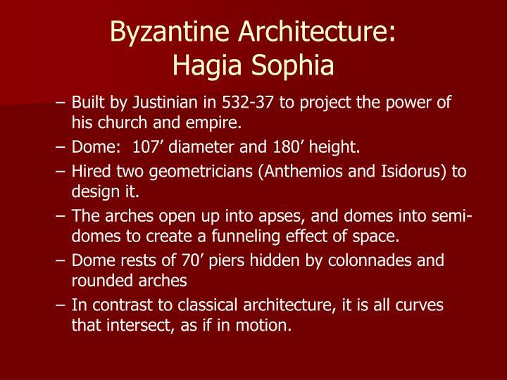 Byzantine Architecture: