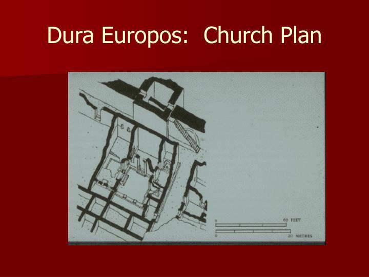 Dura Europos:  Church Plan
