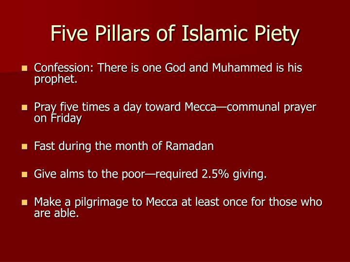 Five Pillars of Islamic Piety