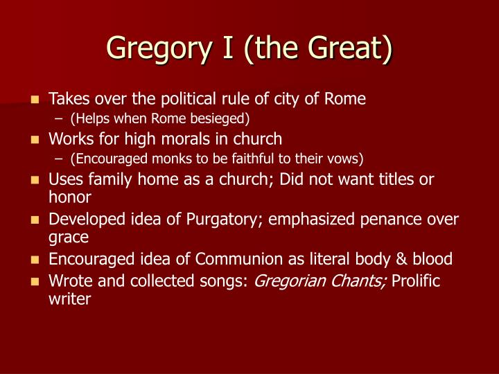 Gregory I (the Great)