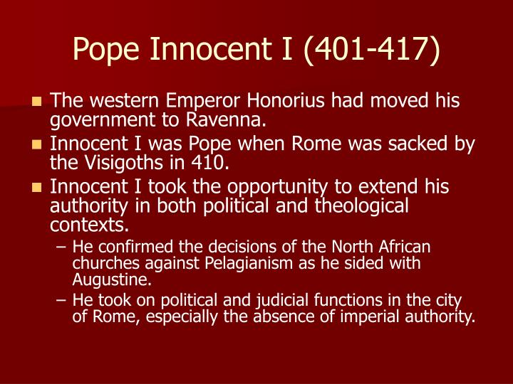 Pope Innocent I (401-417)