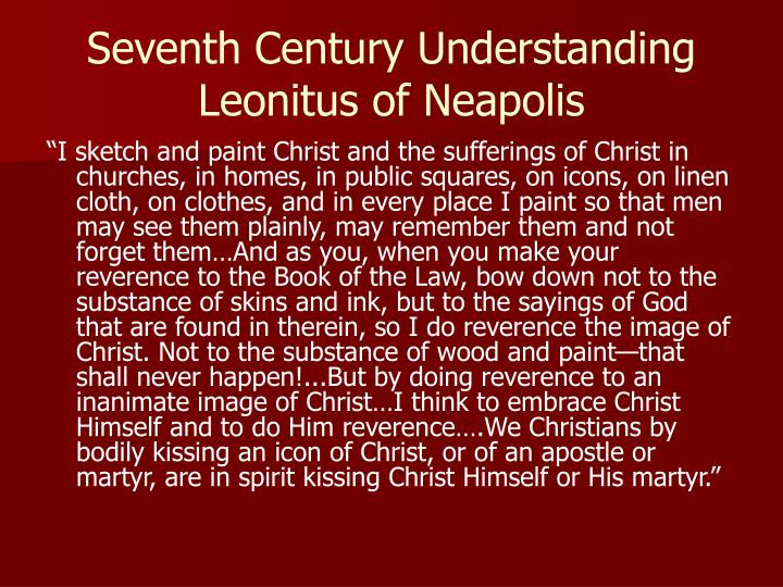 Seventh Century Understanding