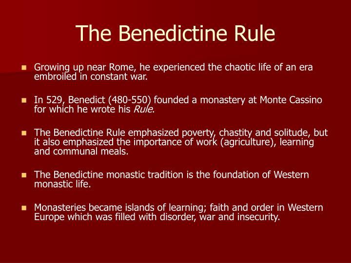 The Benedictine Rule