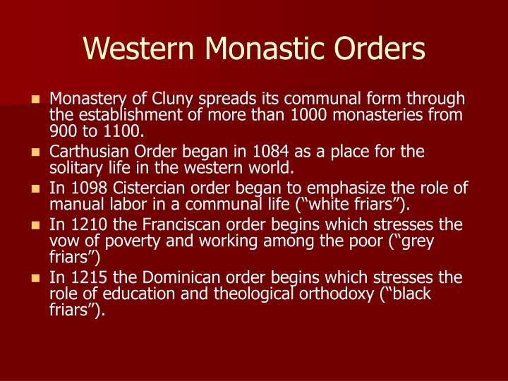 Western Monastic Orders